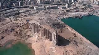 Beirut explosion damage revealed in aerial shots
