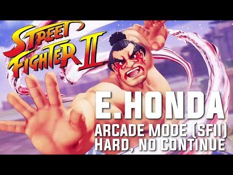 SFV: E. Honda, Arcade Mode (SFII Path). HARD, NO CONTINUE.