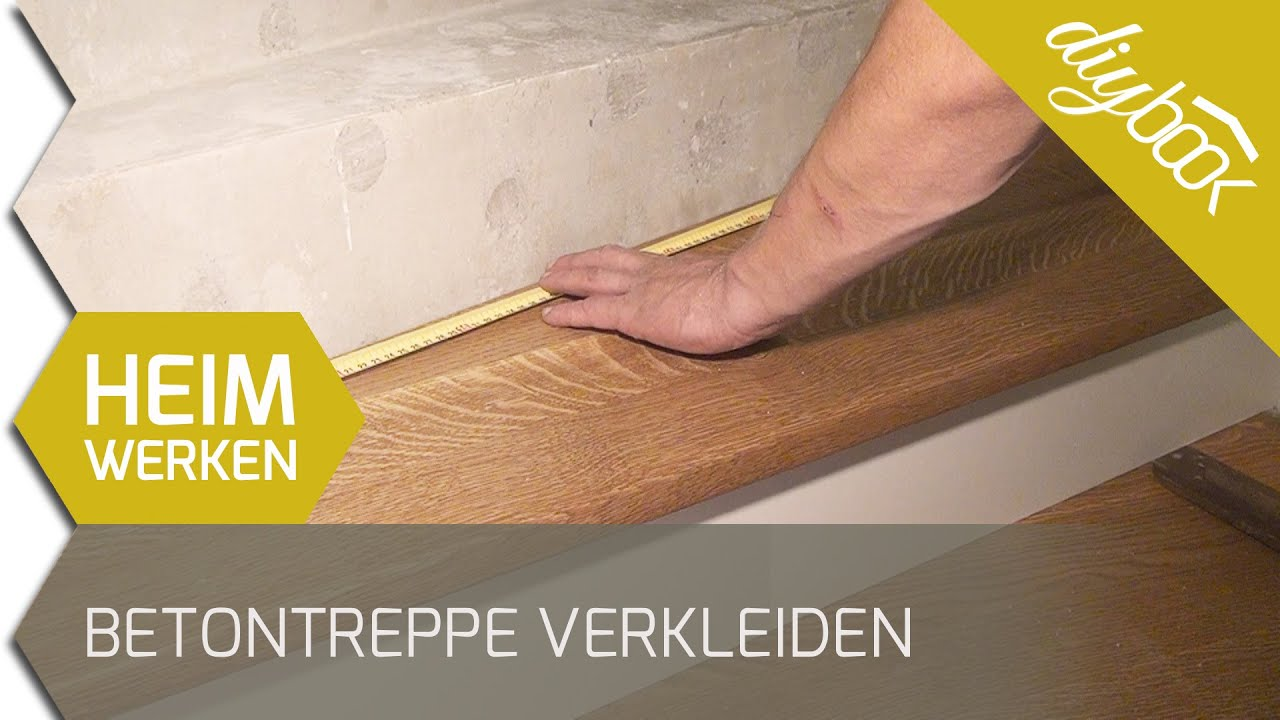 betontreppe verkleiden treppenverkleidung mit holz youtube. Black Bedroom Furniture Sets. Home Design Ideas