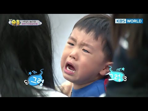 Daddy Yong's shocking ghost costume makes Seungjae cry[The Return of Superman/2017.11.19]