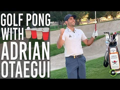 PLAYING GOLF PONG WITH EUROPEAN TOUR PLAYER ADRIAN OTAEGUI