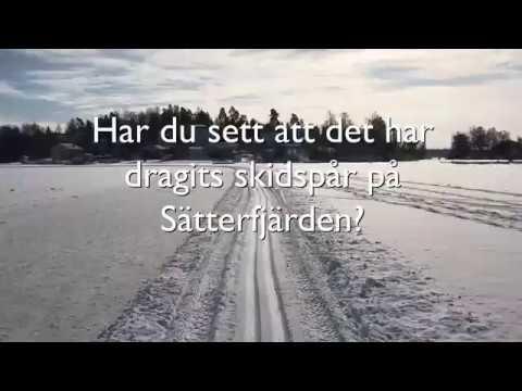 Skidspår på Sätterfjärden i Åkersberga