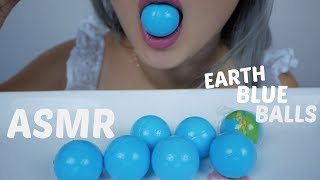 ASMR EARTH BLUE BALLS GUMMY | Sticky & Chewy  Eating Sounds | N.E Let's Eat