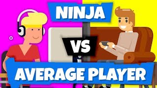 Ninja vs Average Player (You) on Fortnite Battle Royale