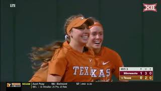 Minnesota vs Texas Softball Highlights
