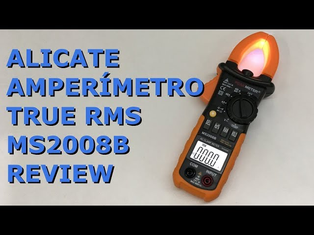 REVIEW ALICATE AMPERÍMETRO TRUE RMS PEAKMETER MS2008B