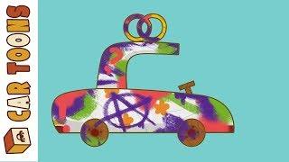 Car Toons car wash. Kids' cartoon with cars.