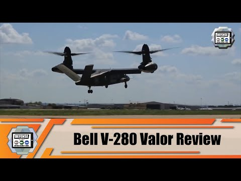 Review Part 1 US Army Future Vertical Lift FVL program: Bell V-280 Valor tiltrotor aircraft US Army