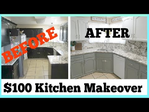 UNDER $100 KITCHEN MAKEOVER | How To Transform Your Kitchen Step By Step | Momma From Scratch