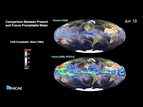 Climate Change: Comparison Between Present and Future Precipitable Water