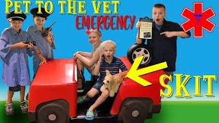 Trouble at the Vet! Family Fun Pack Playtime Skit - YouTube