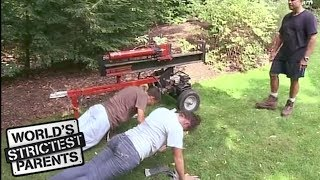 Cop Dad Makes Teens Do Push Ups For Lying! | World's Strictest Parents