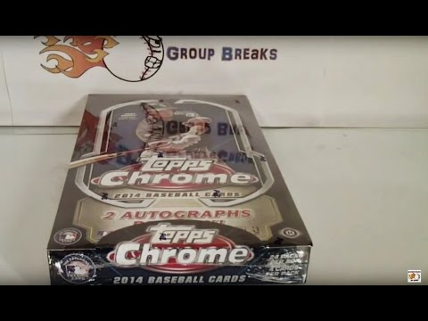 2014 Topps Chrome Baseball Hobby Box Break! NICE!