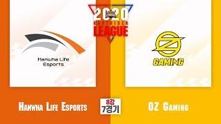 8강 7경기 Hanwha Life Esports vs OZ Gaming [2020 SKT JUMP 카트라이더 리그 시즌1]