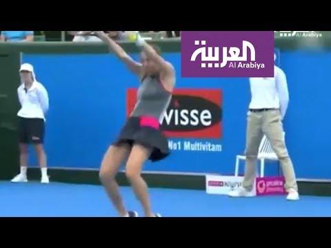صباح_العربية: لاعبة تنس عالمية ترقص بالمضرب