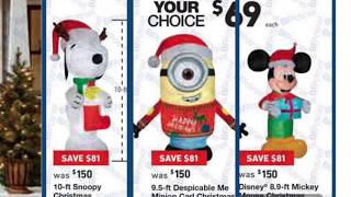 Lowes Black Friday Christmas inflatables. Sold at Lowes for Black Friday. New for 2017. Lowes USA.