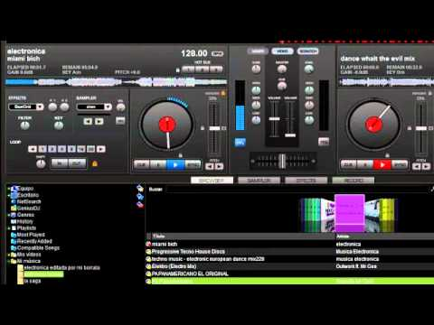como mezclar musica con virtual dj home