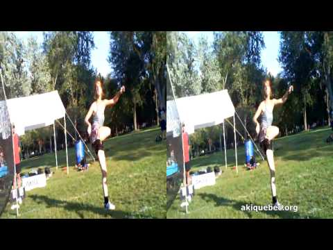 Footbag women's final highlights in 3D!!! [Aki Sphère 2011 finale double féminin 3D HD (Faits Saillants)]