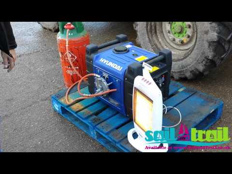 Hyundai HY3600SEI LPG Starting Demonstration Via Remote Start by Sail and Trail