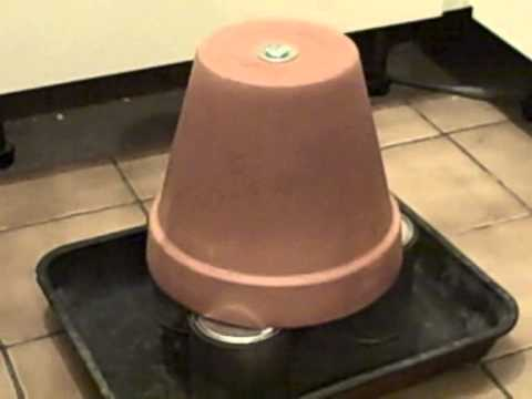 The candle and flower pot heater