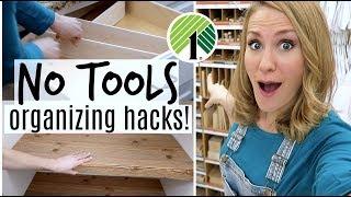 $1 Custom Organization Hacks you need...without tools!
