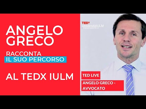 Angelo Greco racconta il suo percorso al TEDx IULM
