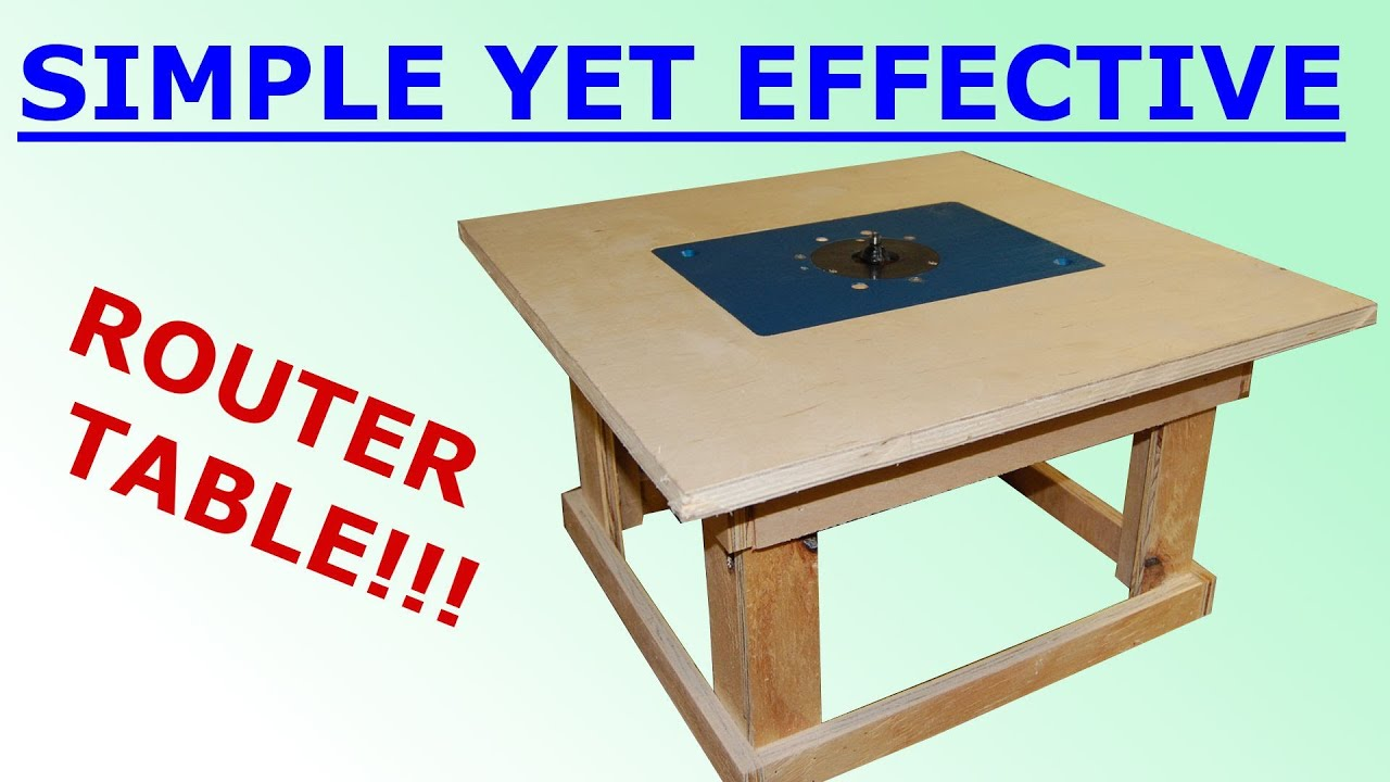 Woodworking Simple Mobile Router Table You