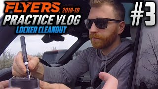 Philadelphia Flyers Practice Vlog (LOCKER CLEAN-OUT EDITION) | EP3 | WE GOT CLAUDE GIROUX!