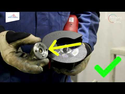 How to mount a cutting disc onto an angle grinder correctly