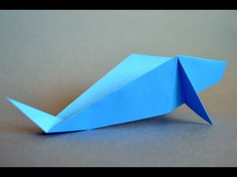 Origami Whale Instructions: www.Origami-Fun.com - YouTube - photo#44