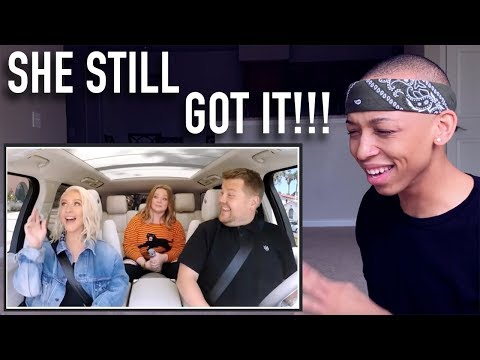 Singer reacting to Christina Aguilera Carpool Karaoke!