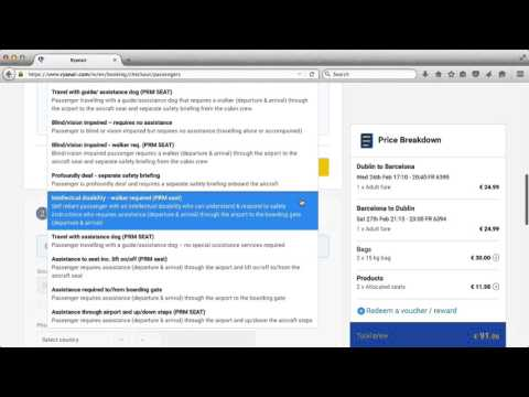 How to Book a Ryanair Flight – Part 4 –  Passenger details and payment