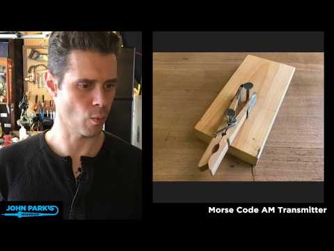 JOHN PARK'S WORKSHOP LIVE 3/8/18 Morse Code AM Transmitter @adafruit @johnedgarpark #adafruit