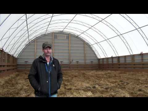 Jack Mcaughey 50' x 90' Atlas Building Series Beef Shelter