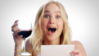 "Jennifer Lawrence Plays ""Movie Review or Wine Review?"" // Omaze"