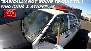 Breaking Into Police Car Looking For Guns! Ford Crown Victoria Interceptor Round 2