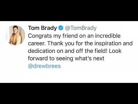 NFL Players React to Drew Brees Retiring from NFL after 20 Year Career