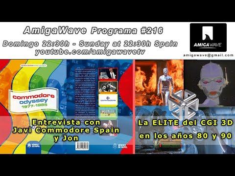 """AmigaWave #216 - Noticias, entrevista con Javi C Spain y Jon y especial """"La ELITE CGI de los 80-90""""."""