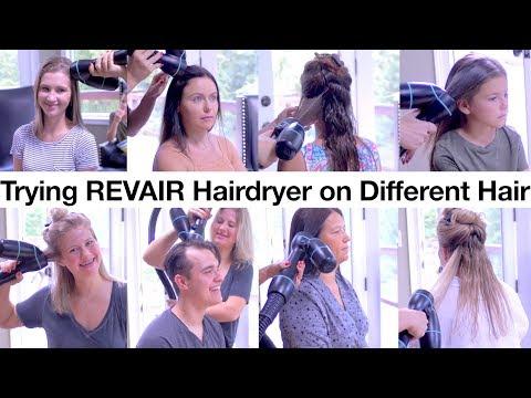 Testing REVAIR Hairdryer on Different Hair, Men & Women | Milabu