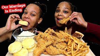 Popeyes Fried Chicken Mukbang | Crunchy Eating Show