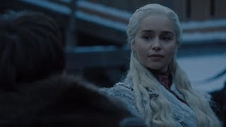Game Of Thrones S08E01 - Sansa meets Daenerys - Bran told Daenerys About Viserion