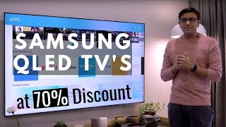 Samsung QLED TV at 70% OFF - Not Paid / Not Sponsored
