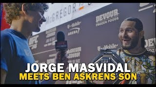 Jorge Masvidal Crosses Paths With Ben Askren's Son