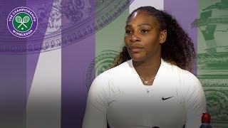 Serena Williams 'taking steps in the right direction'