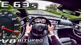 Mercedes AMG E63 S 4Matic+ ACCELERATION & TOP SPEED AUTOBAHN POV by AutoTopNL