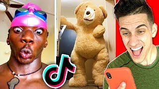 Reacting To Your FAVORITE FUNNY TIK TOKS! (Do NOT LAUGH Challenge)