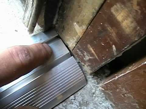 Vinyl Aluminum Threshold Installation Pt 1 This Old