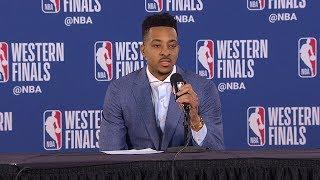CJ McCollum Postgame Interview - Game 4 | Warriors vs Blazers | 2019 NBA Playoffs