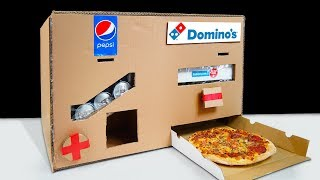 DIY How to Make Dominos Pizza and Pepsi Vending Machine