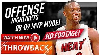 Prime Dwyane Wade SICK Offense Highlights 2008/2009 - The REAL MVP! (720p HD)